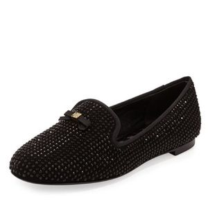 Tory Burch Chandra Suede Sparkle Rhinestone Loafer
